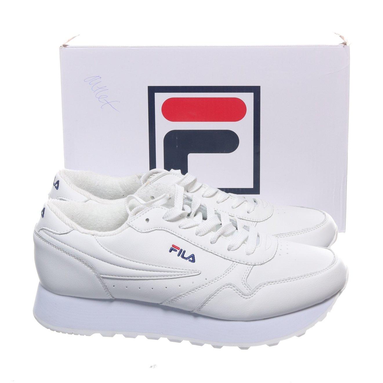 Fila, Sneakers, Strl: 42, Orbit Zeppa, Vit, Skinn