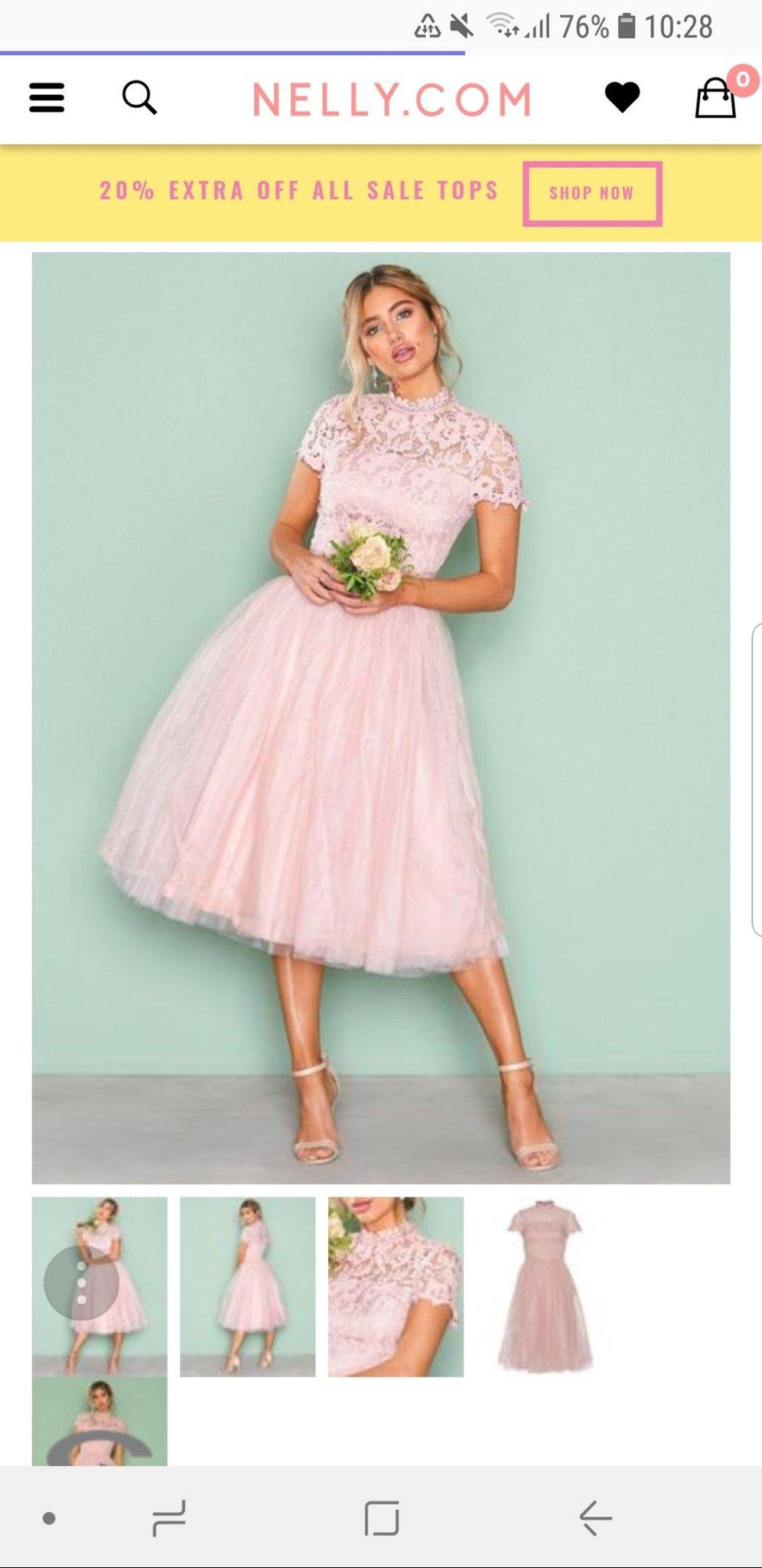 4b3177f8c3d Puder rosa Klänning från Chi Chi London stl 40-42 (346553504) ᐈ Köp ...