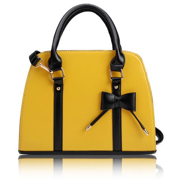 Handväska Gul : Handv?ska l?der gul vintage p? tradera handv?skor i