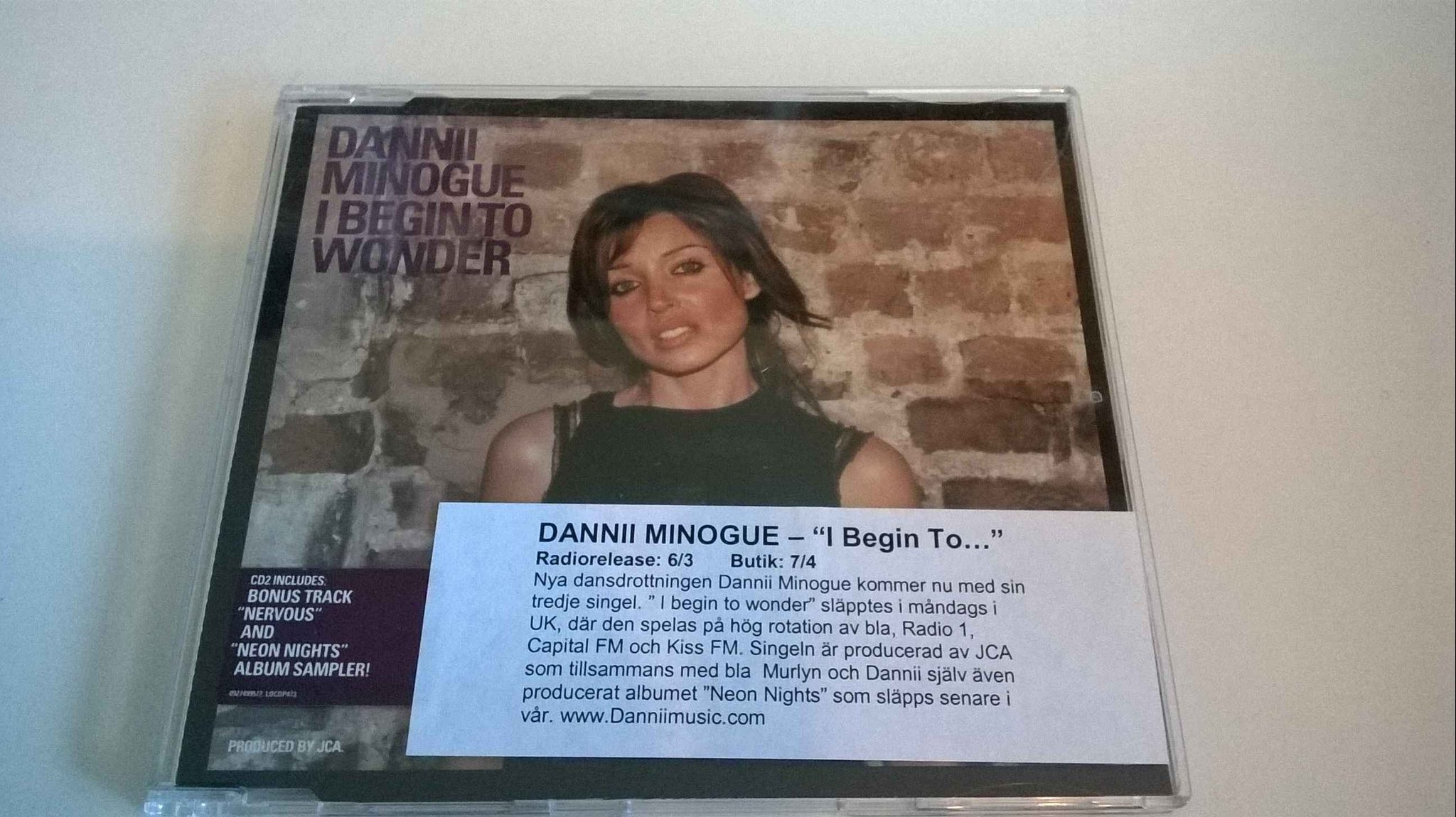 Dannii Minogue - I begin To Wonder, CD