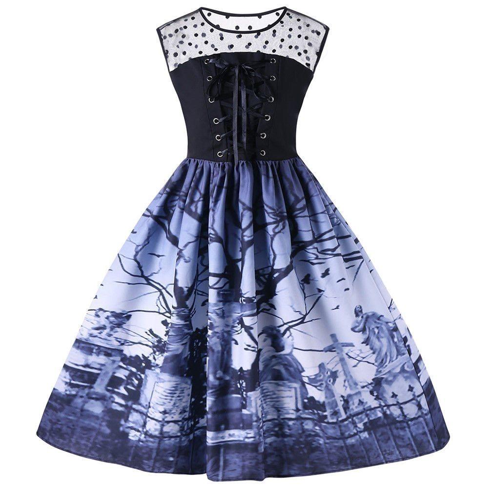 klänning med korsettsnörning