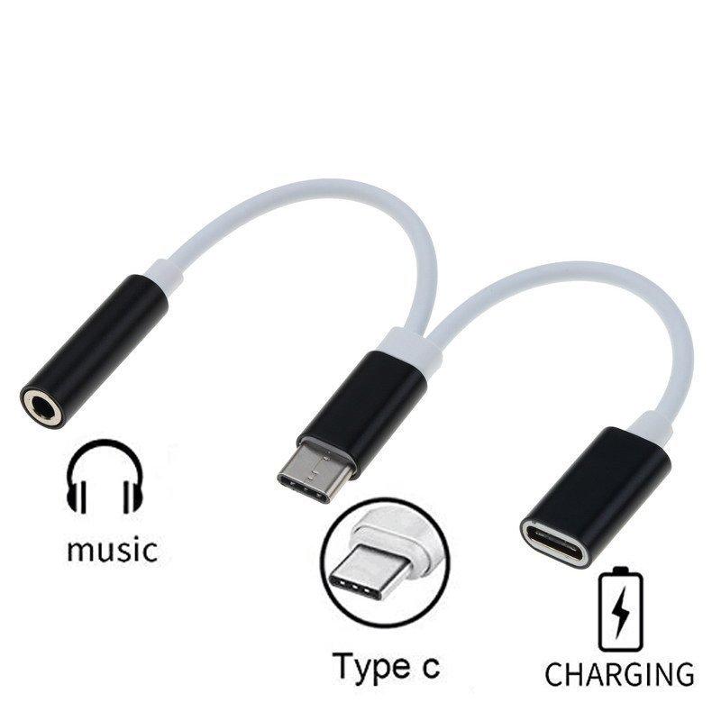 USB C till 3,5 mm Audio Adapter och USB C laddare 2 in 1