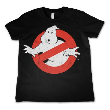 Ghostbusters T-shirt Distressed Logo Barn 10 år