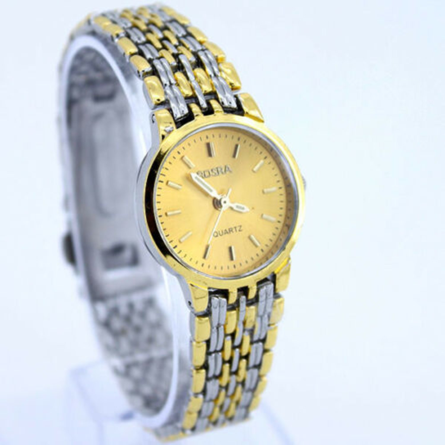 Fashion Luxury Lady Men Hours Guld Dial Quartz Sport Klänning Armbandsur