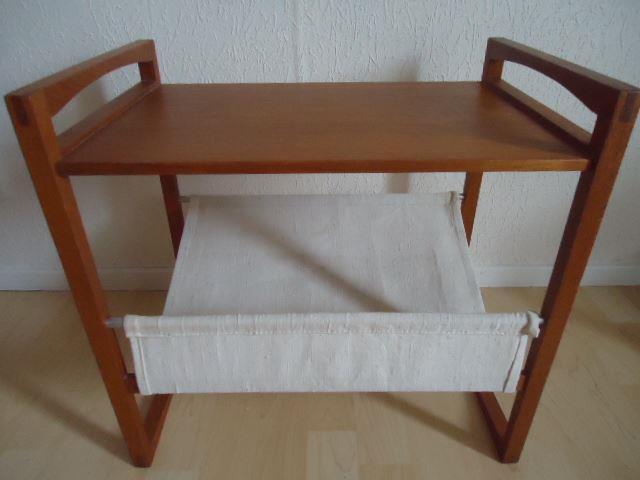 Tidningsställ bord sängbord avlastningsbord teak retro på Tradera com