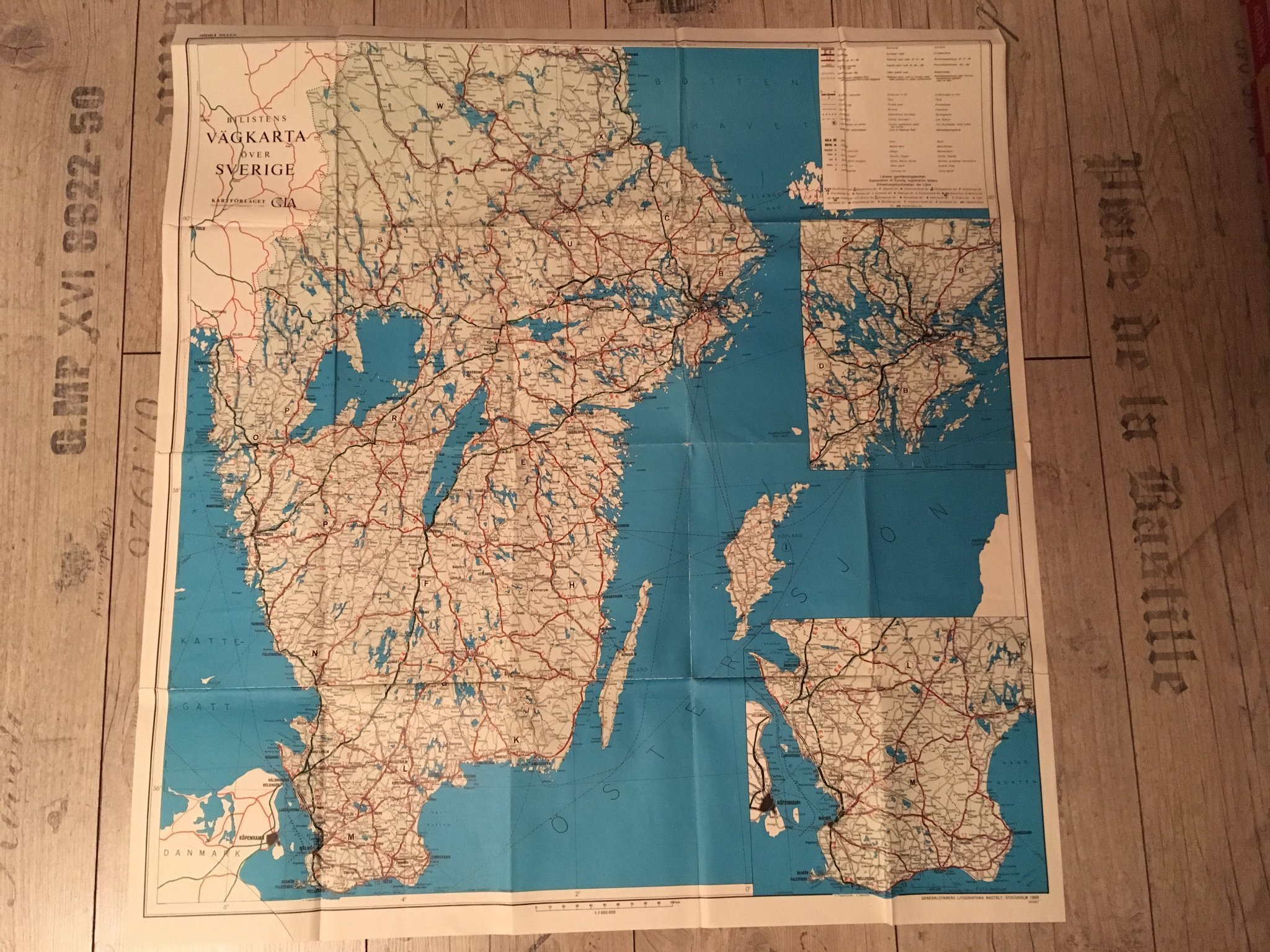 Karta Bilistens Vagkarta Over Sverige Sodra D 375753384 ᐈ