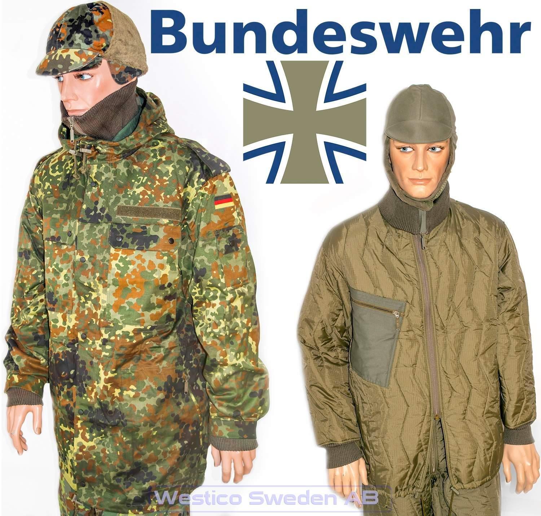 Genuine German army jacket cold weather winter parka liner BDU military surplus