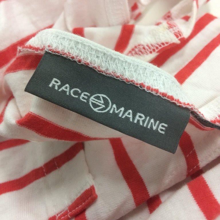 Race Marine, Linne, Linne, Linne, Strl: 44, Vit/Röd, Bomull ccbc1e
