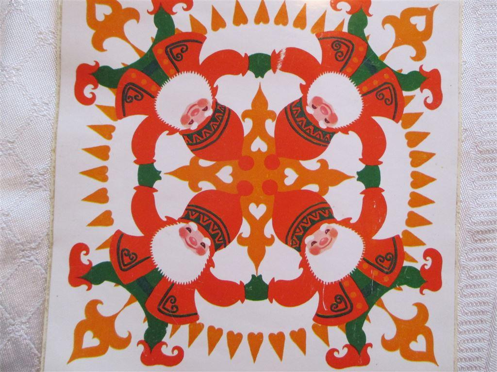 4 retro oanvända kakel dekorer. på Tradera.com - Övriga