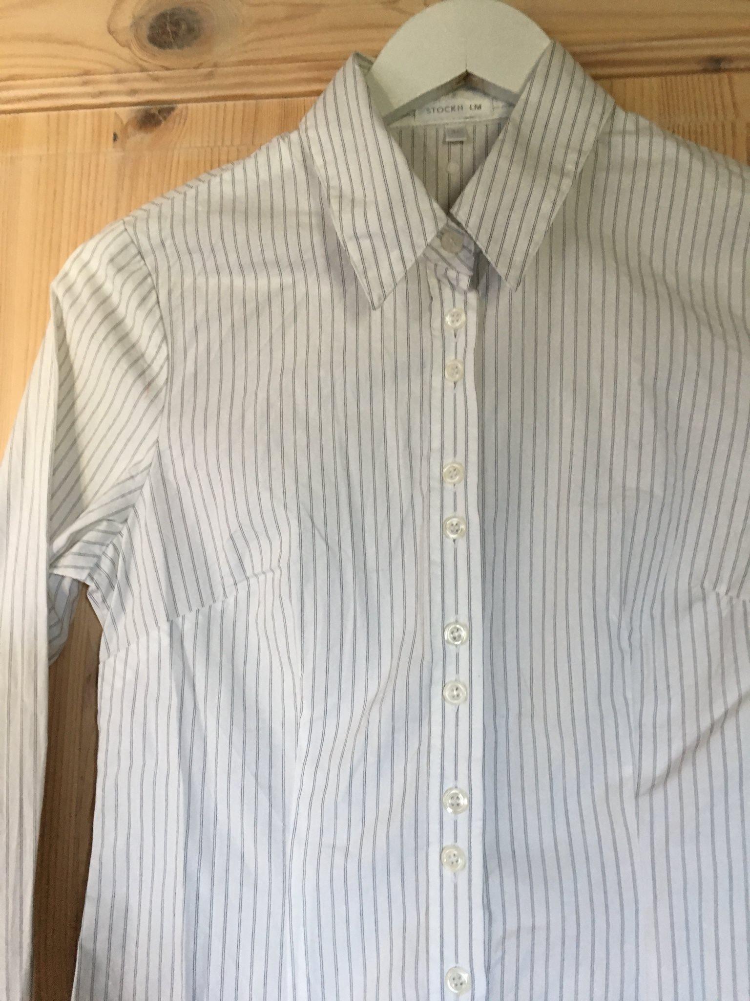 Skjortblus stilren Stockholm diskreta rände.. (343567369) ᐈ Köp på ... a0ac0374b8d59