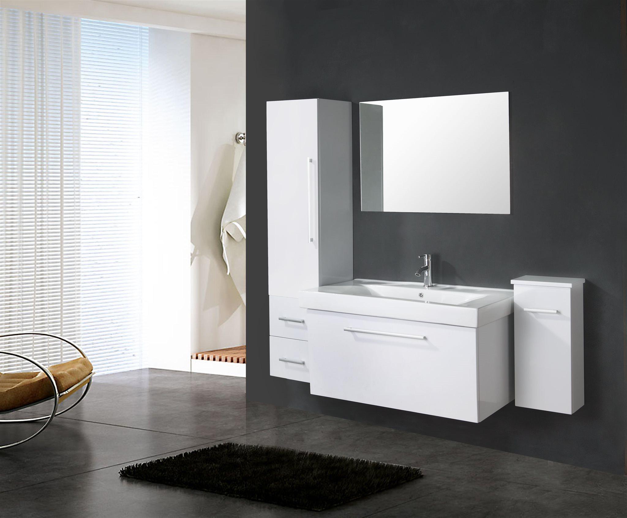 badrumsskåp med handfat ingår 100cm - WHITE LONDON Simba