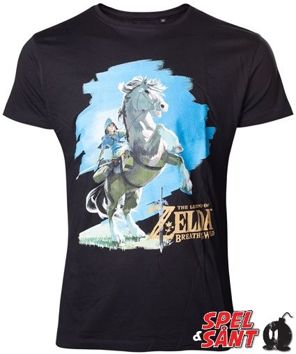 Nintendo Zelda Breath of the Wild Link Rider T-Shirt Svart (Medium)