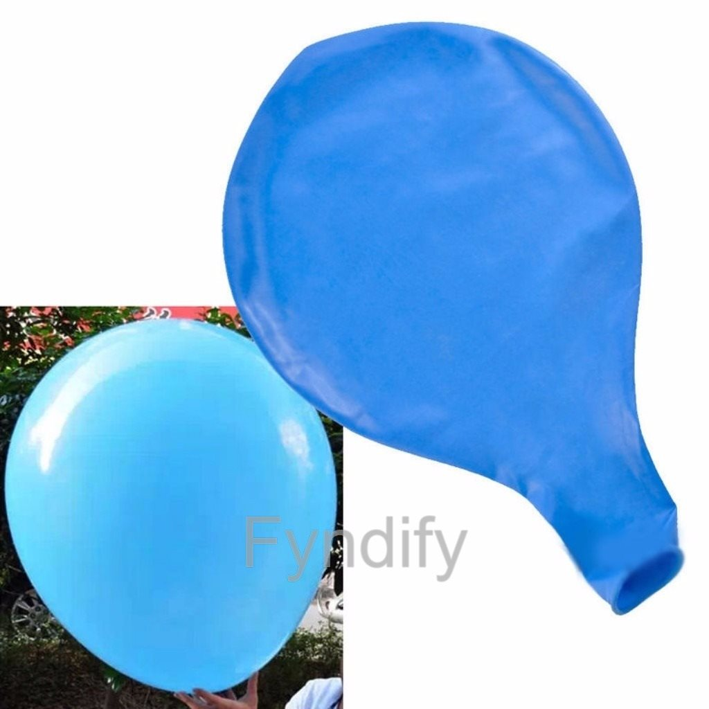 Jätteballong 90cm Blå Latex Large Balloon