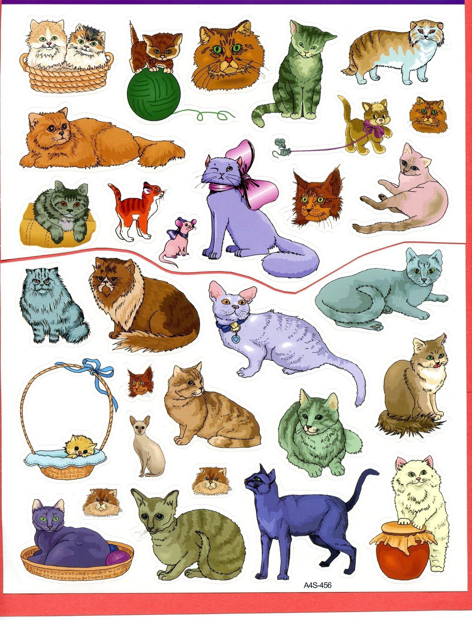 tecknade katter