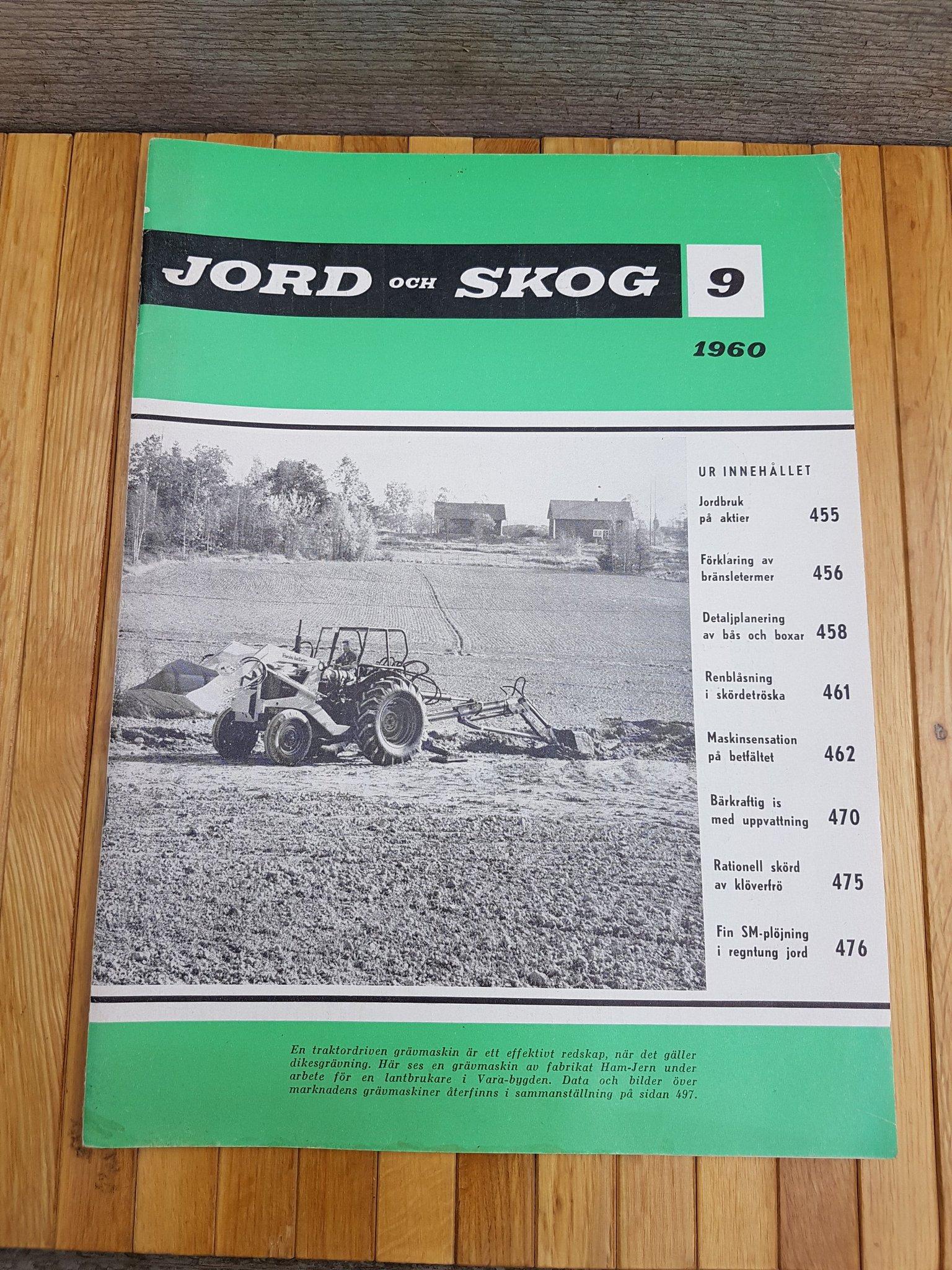 Jord och Skog 1960 Nr 9 Fiat 361C Traktor Ford    (356877821