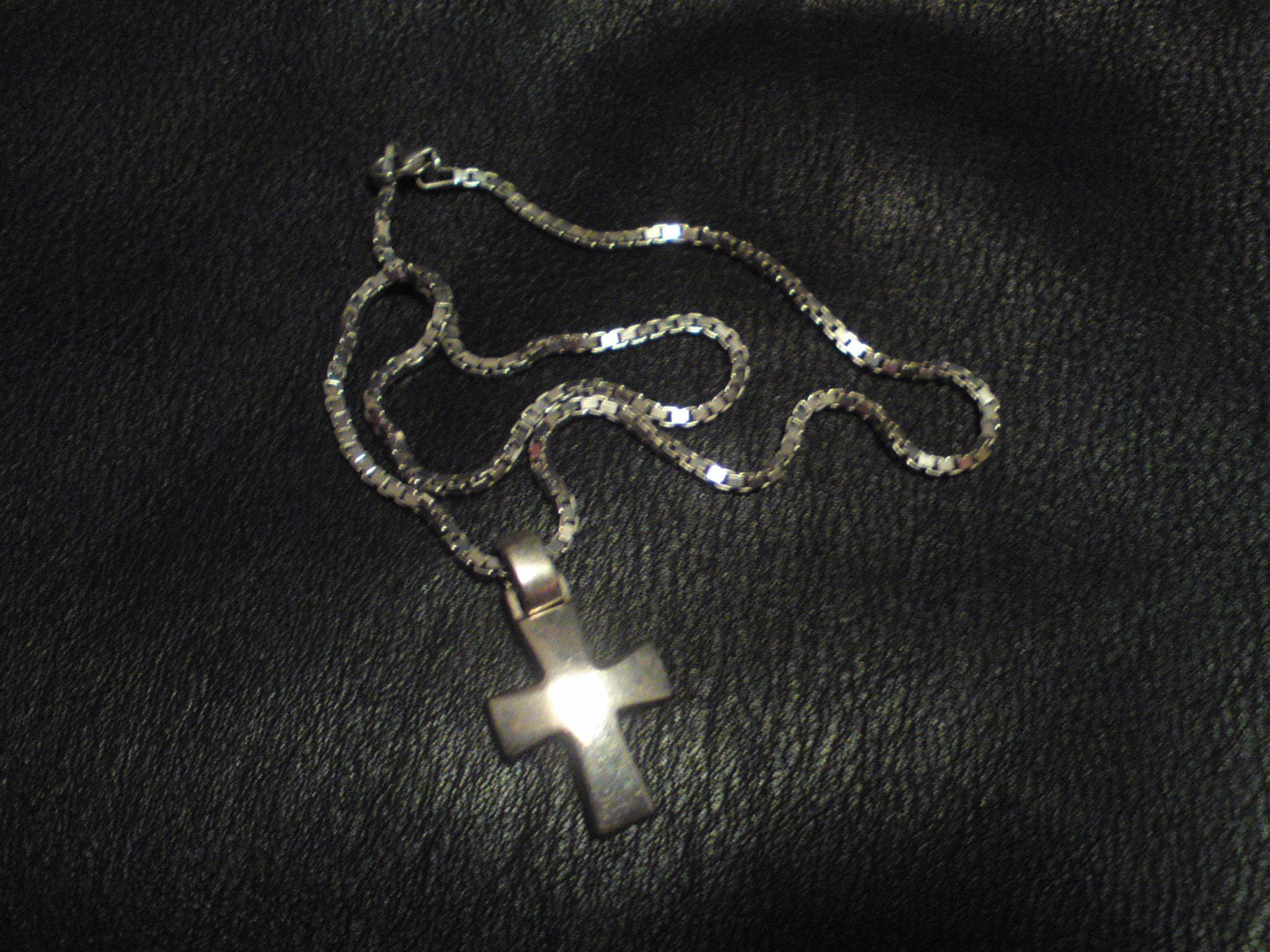 silver kors halsband (342726473) ᐈ Köp på Tradera a5372810c04ed