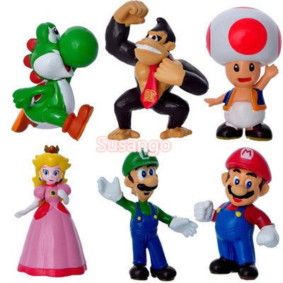 Super Mario Mario Plastic Doll Hand Decoration
