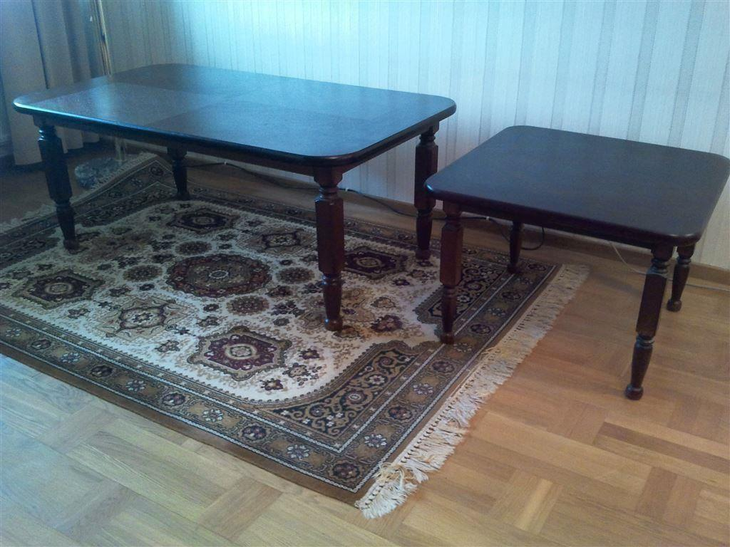 Soffbord Göteborg : Elegant soffbord med tillhörande sidobord nyskick på tradera