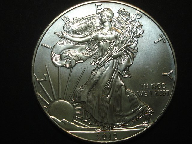 USA AMERICAN EAGLE SILVER DOLLAR 2012