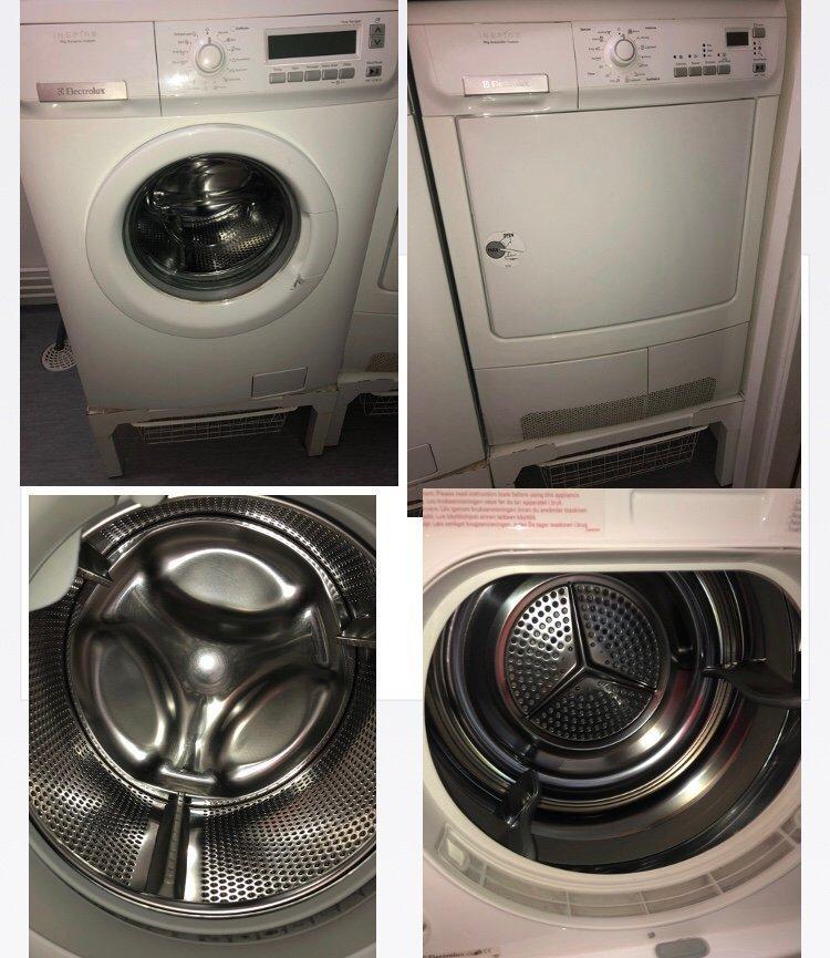 Tvättmaskin & Torktumlare med tillhörande korgar