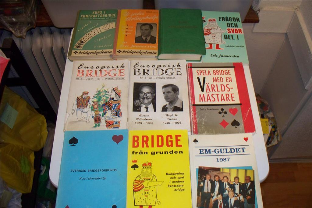 Bridge, 10 böcker om bridge, bokpaket
