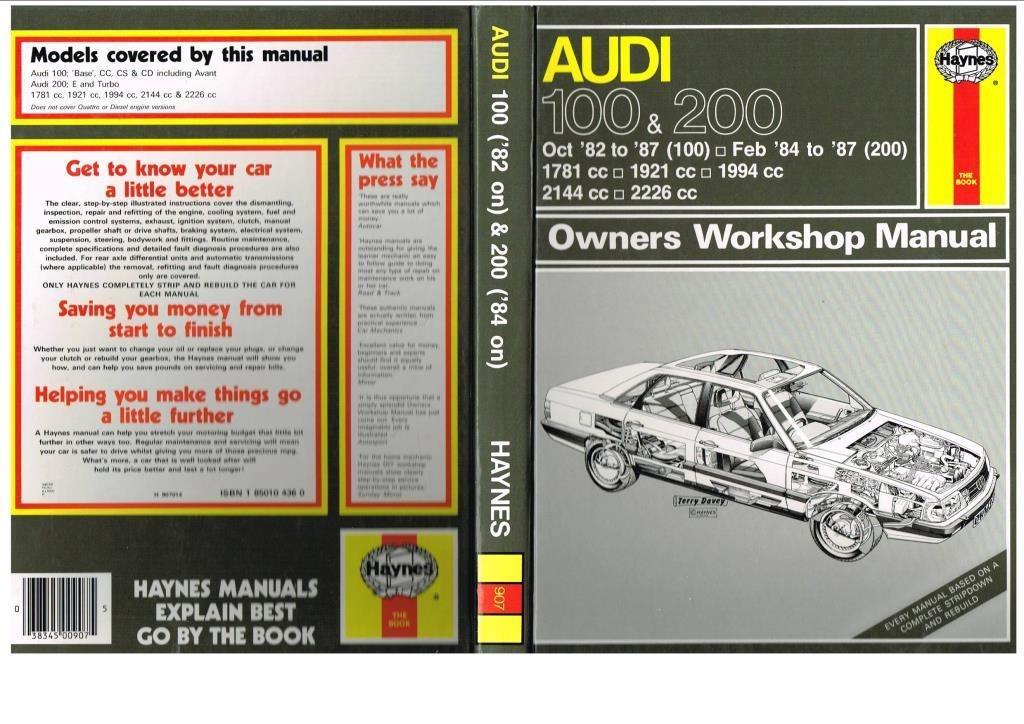 907 Haynes Owners Workshop Manual AUDI 100 & 200