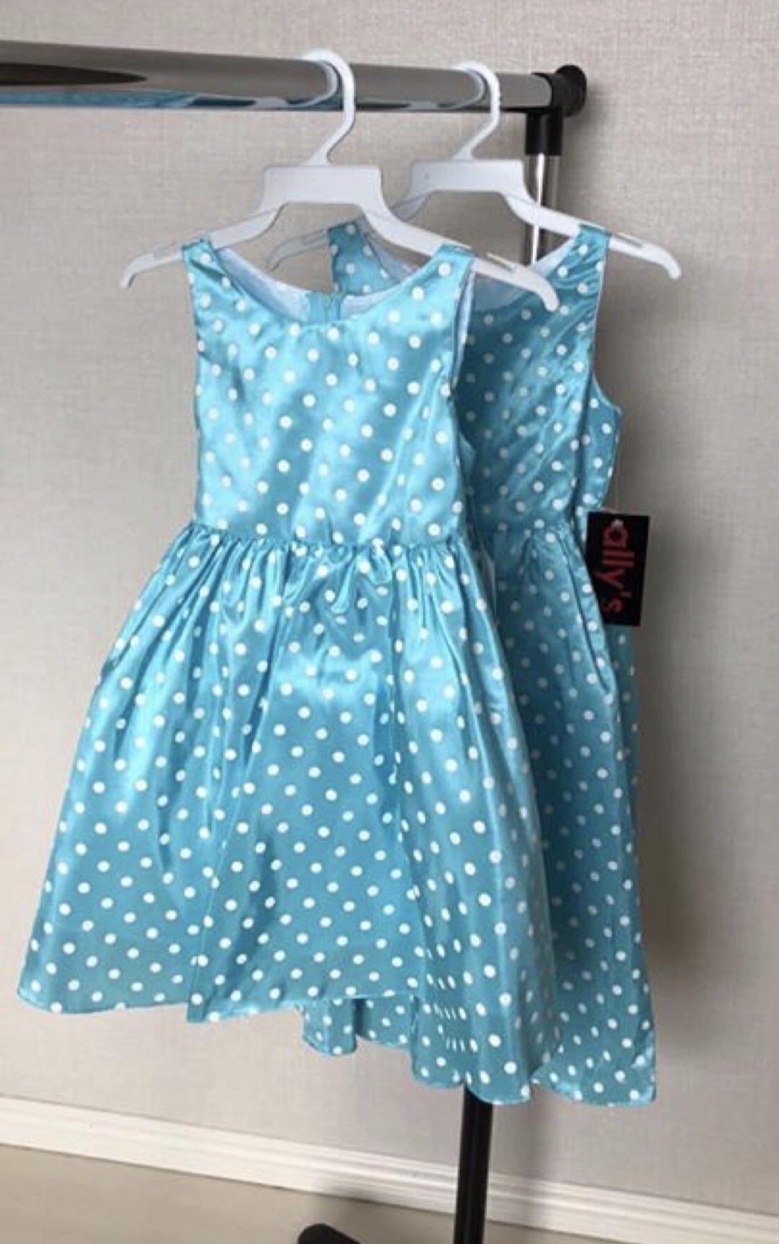 1acf889ba33e 2 st Festklänningar för barn näbbklänning barnklänning retro rockabilly ...