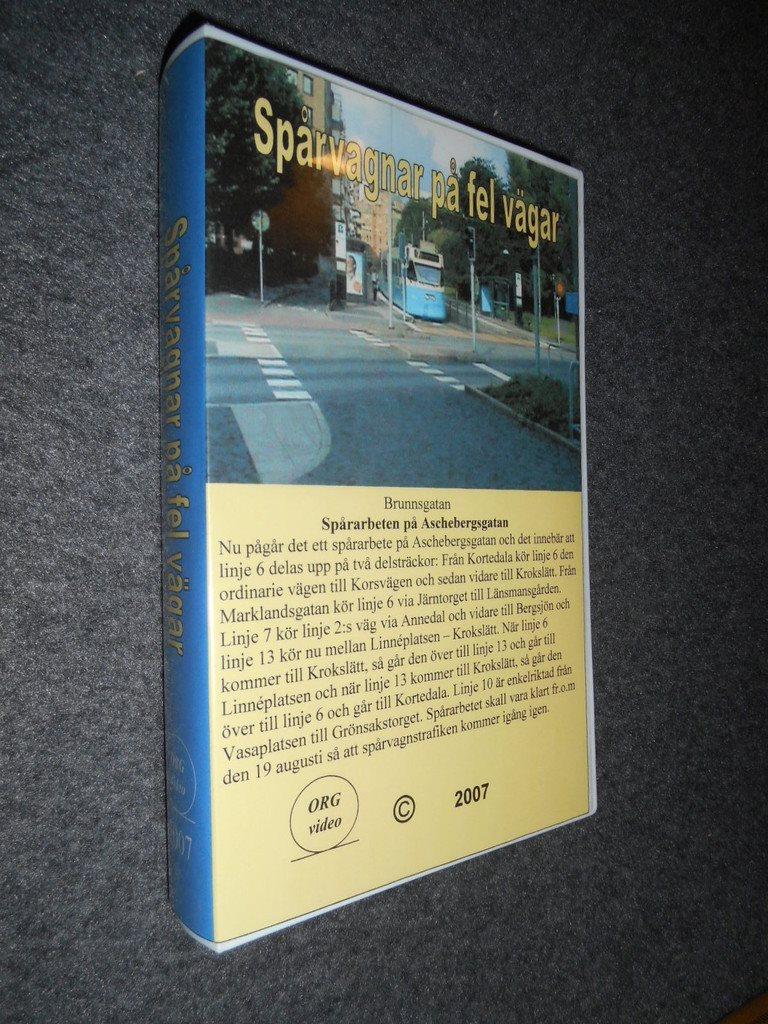 Spårvagnar på fel vägar (VHS) Spårvägen Göteborg