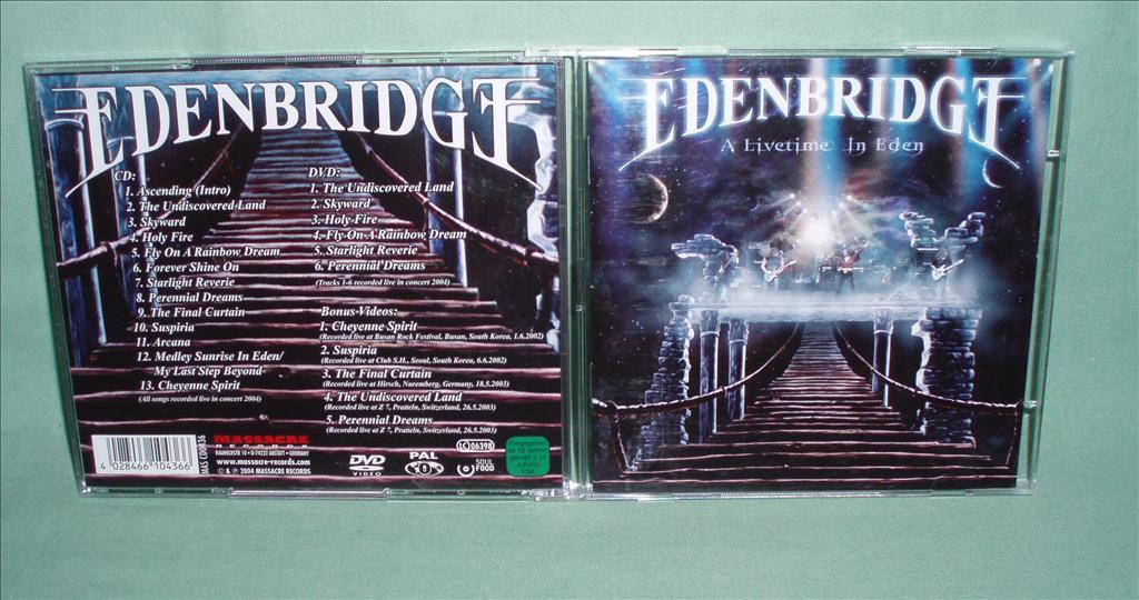 EDENBRIDGE - A Livetime in Eden , CD+DVD 2004 , ,