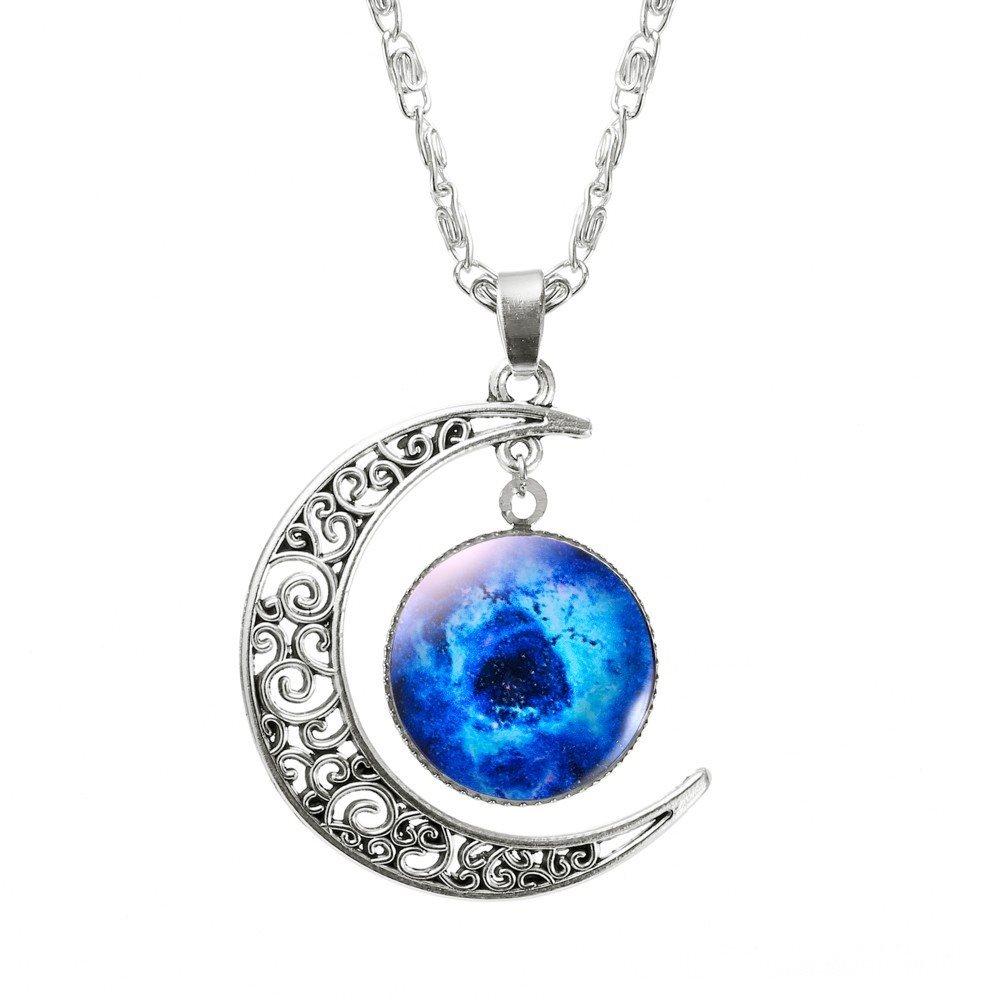 halvmåne halsband silver