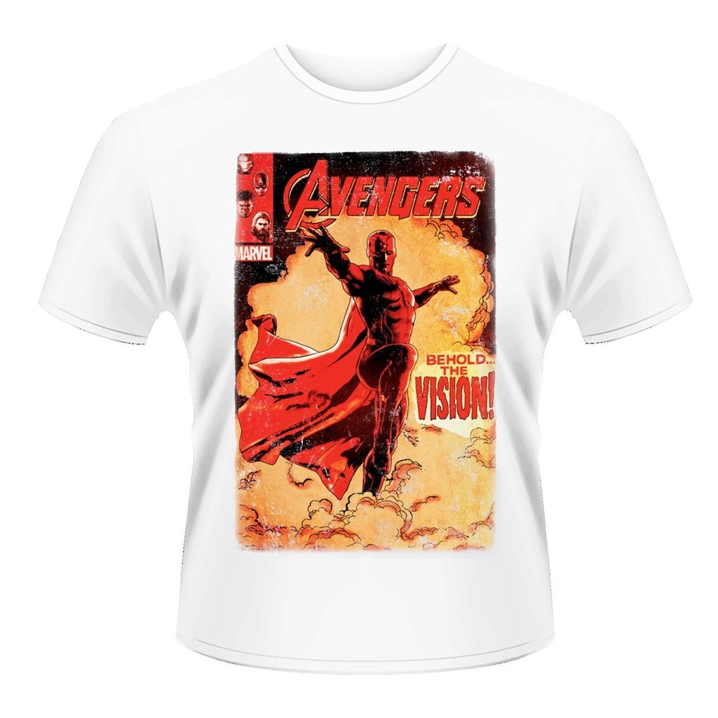 MARVEL AVENGERS-VISION COVER T-Shirt -  X-Large