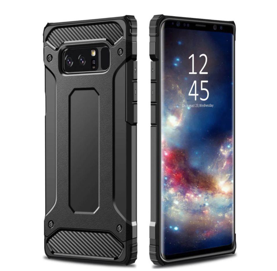 Samsung Galaxy Note 8 Hybrid Armor Shockproof Rugged Case Cover  Skal -  Svart 8581783b1bc90