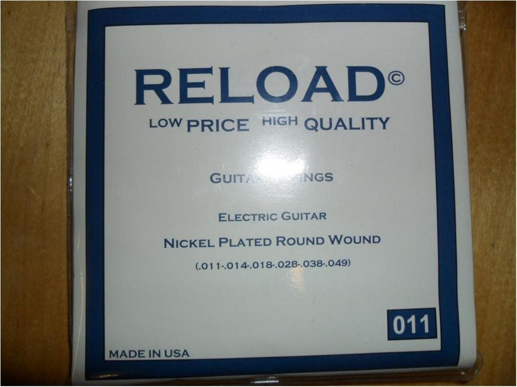 RELOAD  3-pack  Guitar strings  set.