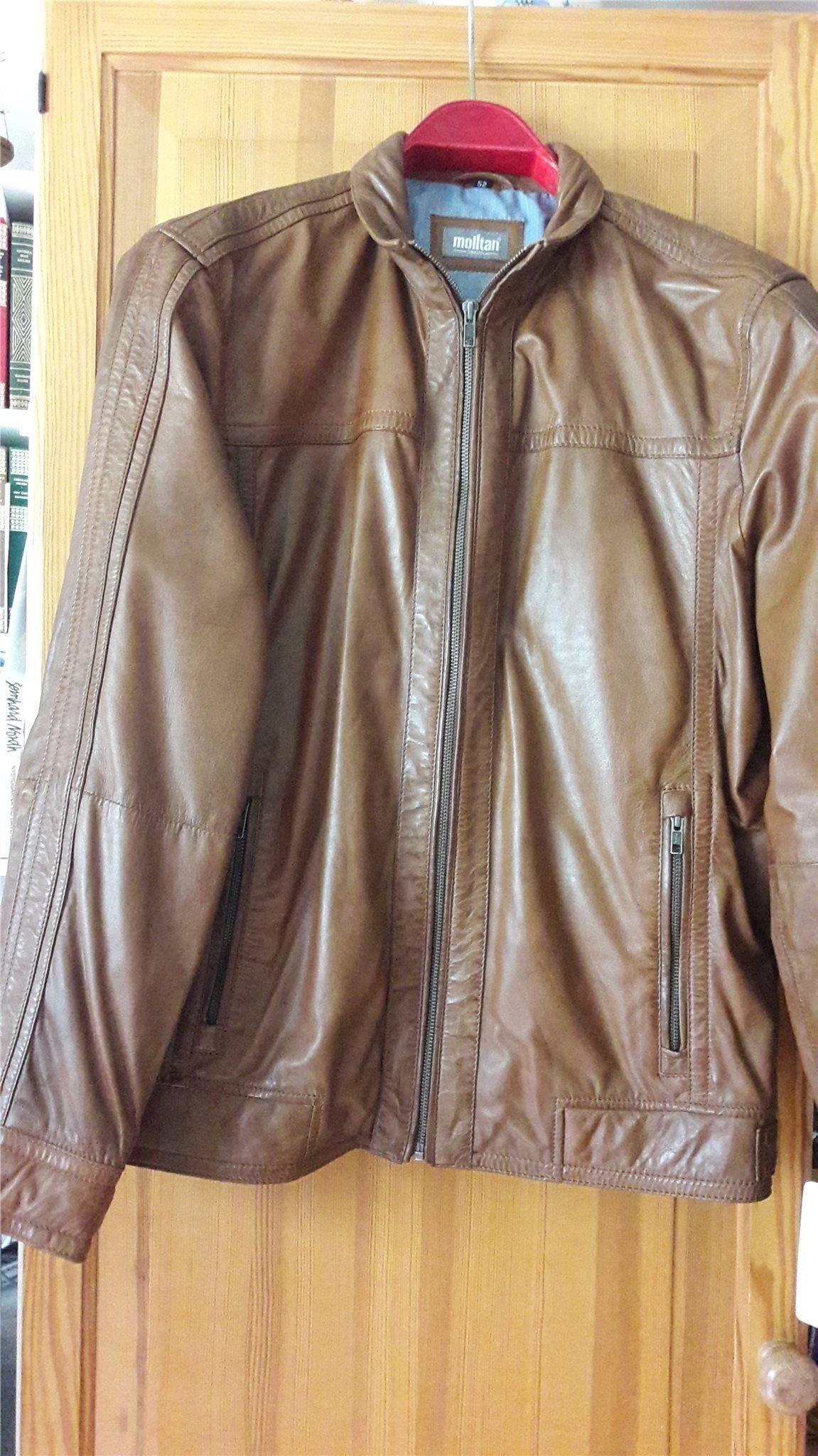 Ny skinnjacka till herr stl 52 (401124246) ᐈ Köp på Tradera