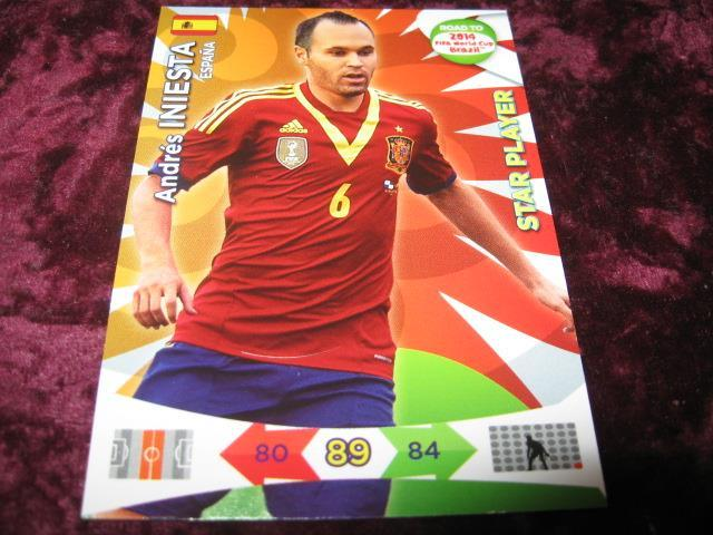 ANDRES INIESTA-SPANIEN(ESPANA)-STAR PLAYER-ROAD TO 2014 FIFA WORLD CUP BRAZIL