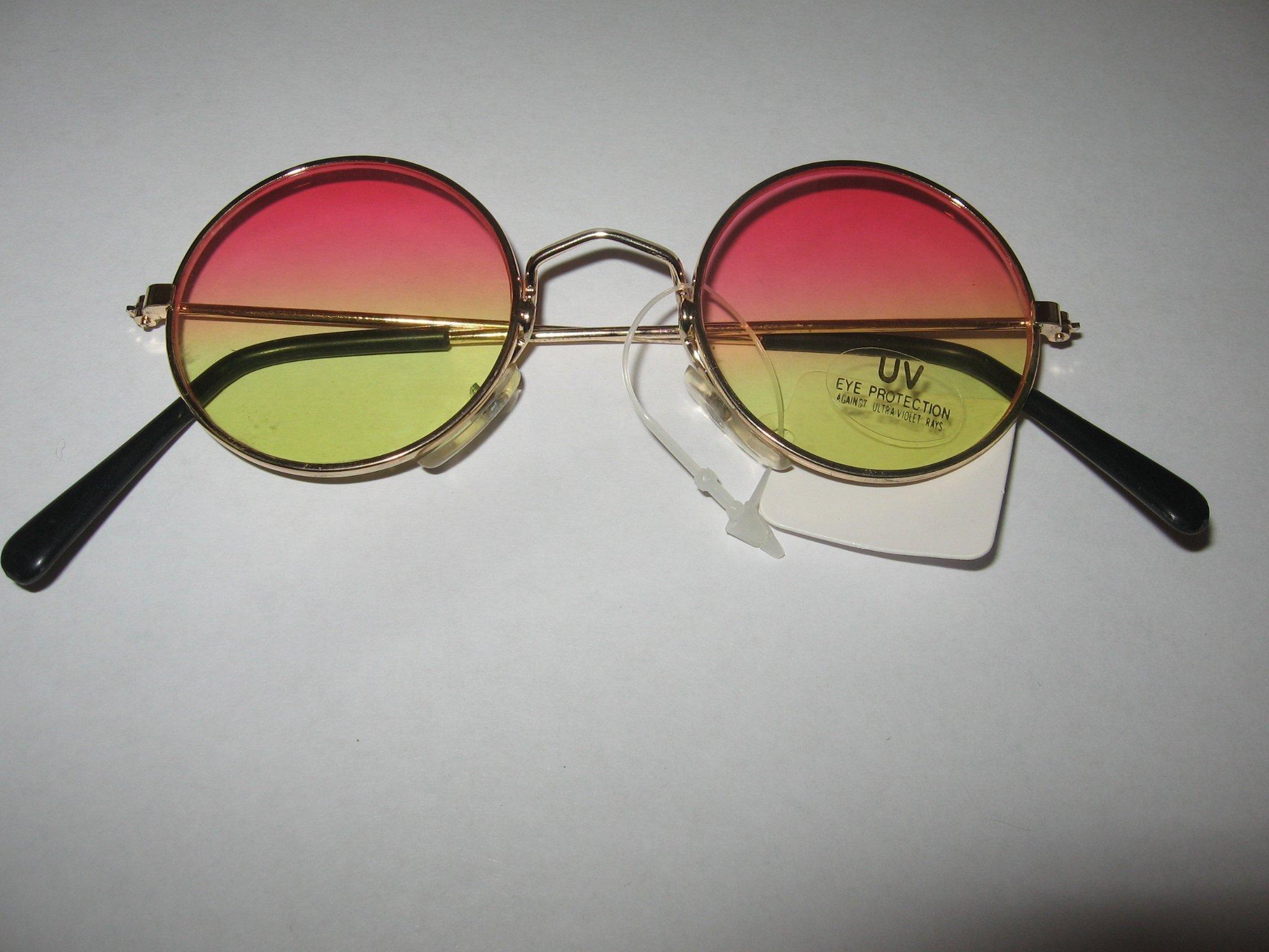 Ozzy solglasögon Rosa Gula Linser