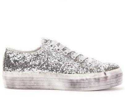 low priced 20f52 a72bf Ny glittrig TIAMO lågsko sneaker grå silver 40