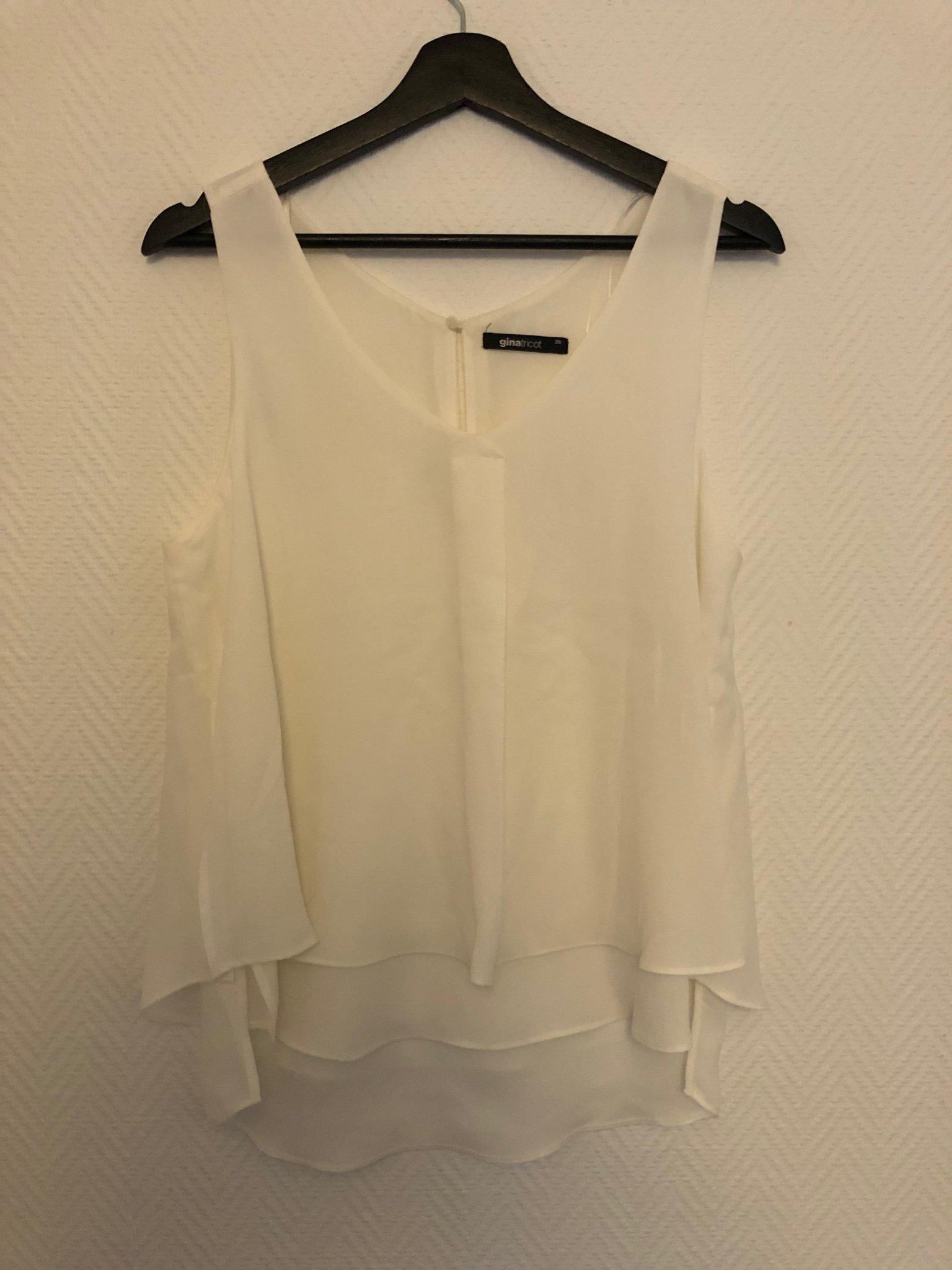 Linne Topp från Gina tricot, vit, stl 36