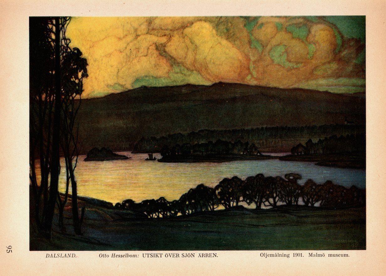Dalslands-målning hämtad ur bok från 1936 (340483112) ᐈ Köp på Tradera f8c78b58a93e7