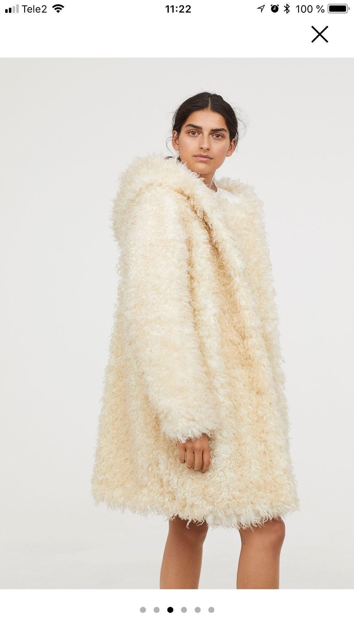 kupongkoder skönhet stor rabatt Fuskpäls kappa med huva, fake fur , cremevit, H.. (367126869) ᐈ ...
