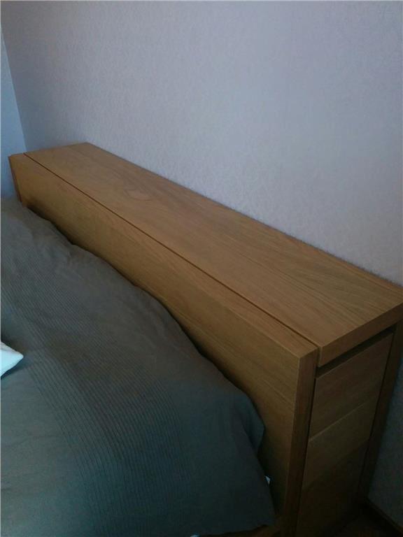 MALM sängstomme med sängbord skåp ekfaner IKEA på Tradera com Sängar