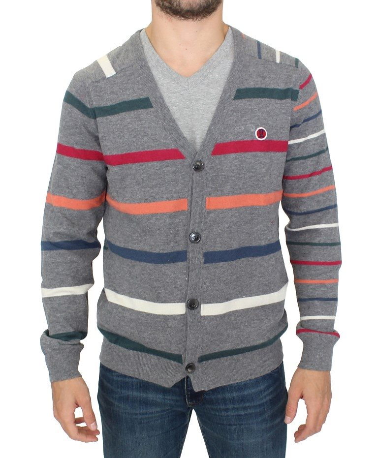 Galliano - Multicolor stripes wool cardigan sweater