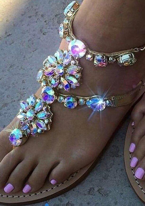 sandaler med bling