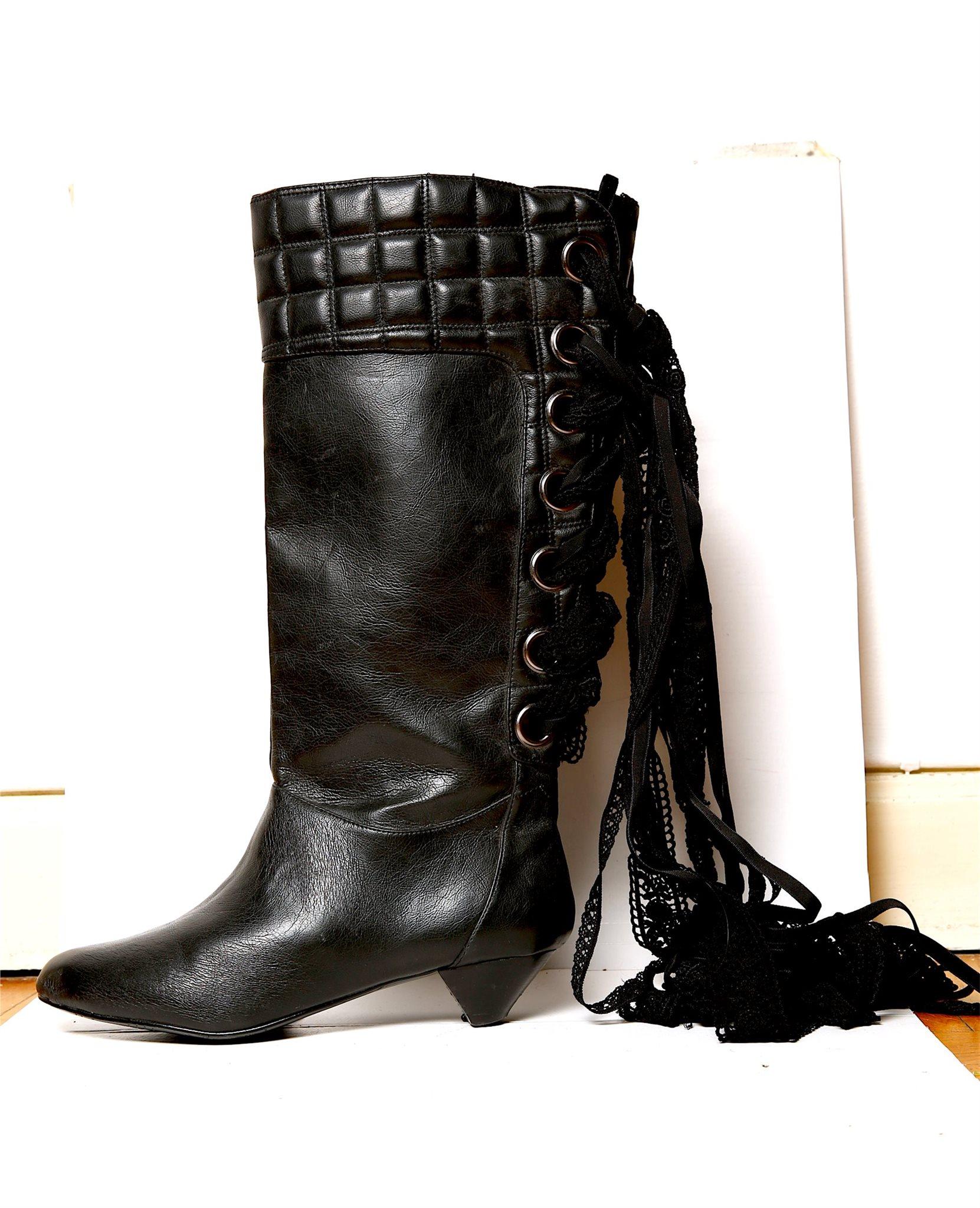 Stövlar   skor   boots   klack   svart   spets.. (343028159) ᐈ Köp ... 8b03ecfacaa7a
