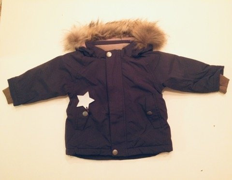 ~*~ Mini a Ture ~*~ Vinterjacka med fur Wally Blue nights st. 92