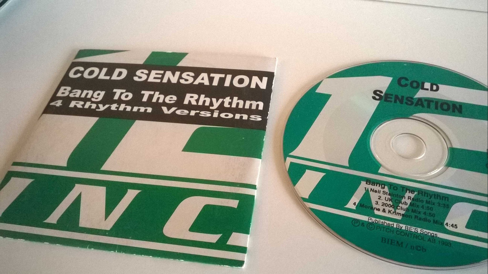 Cold Sensation - Bang to the rhythm, single CD