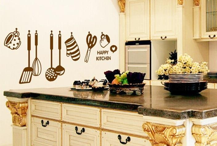 Väggdekor Minions : Väggdekor happy kitchen väggdekoration på tradera