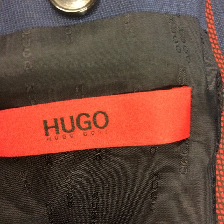 Hugo Boss, Kavaj, Kavaj, Kavaj, Strl: 46, Mörkblå, Ull eceeb6