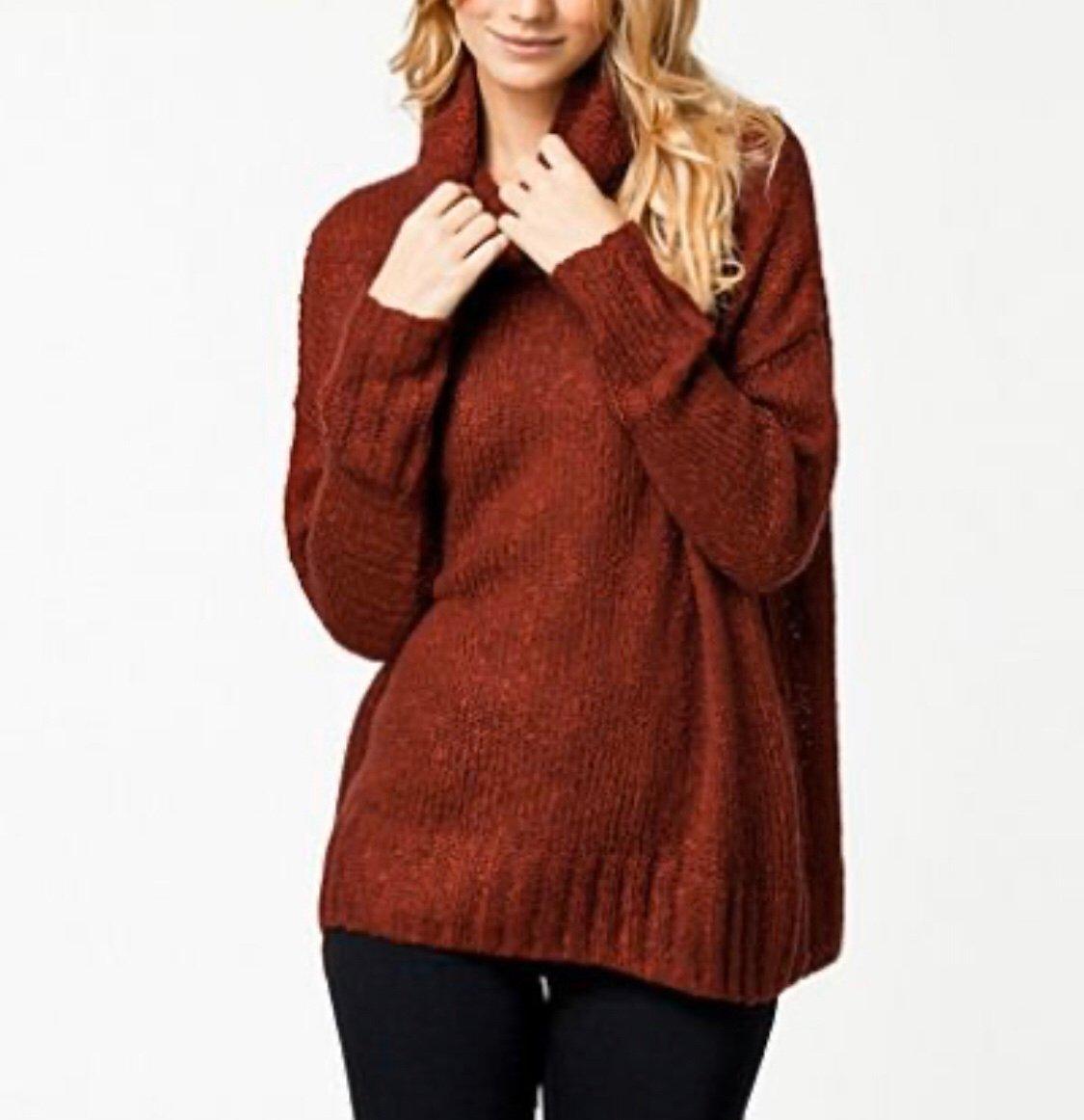 Stickad roströd tröja från Tiger of Sweden