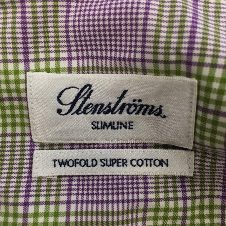 Stenströms, Skjorta, Strl: 38, Slim Slim Slim Line, Lila/Grön/Vit d6aa0b